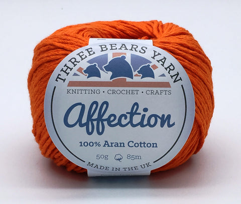 Bonfire Orange 100% Cotton - 50g Aran (Worsted)