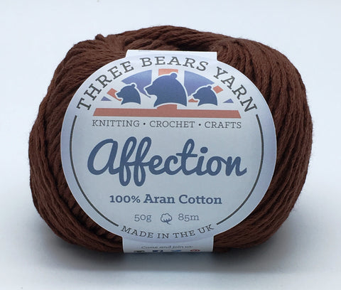 Brunette Brown 100% Cotton - 50g Aran (Worsted)