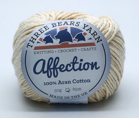 Cuddles & Cream 100% Cotton - 50g Aran (Worsted)