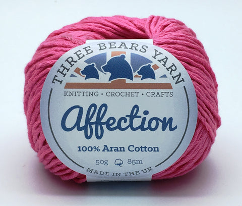 Flamingo Pink 100% Cotton - 50g Aran (Worsted)