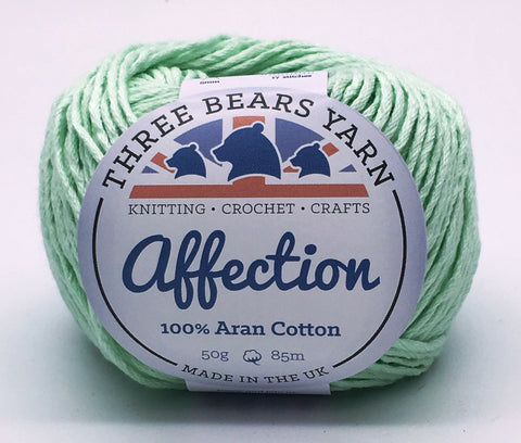 Gentle Green 100% Cotton - 50g Aran (Worsted)