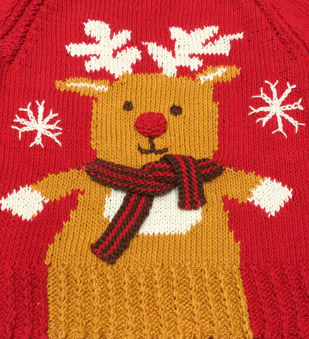 Rudolph Sweater Knitted Pattern & Yarn Pack