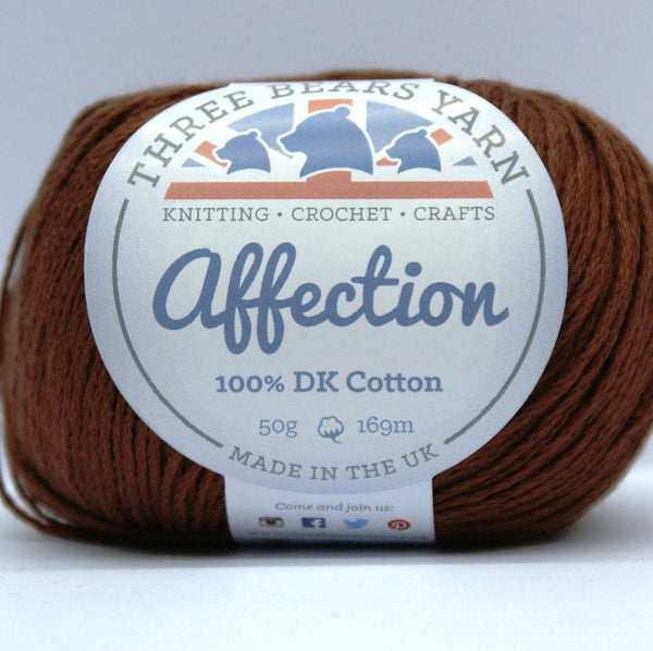 Brunette Brown 100% Cotton - 50g DK (Fine Sport)