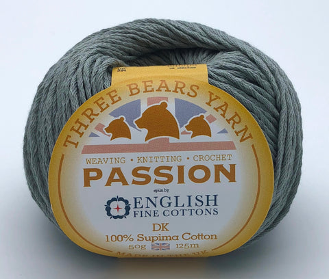 Arctic Grey (EFC 17-0009) 100% Supima Star Cotton - 50g DK (Sport)