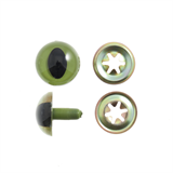 15mm Green cat safety eyes