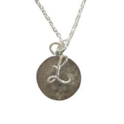 P057 Round Pendant With Initial