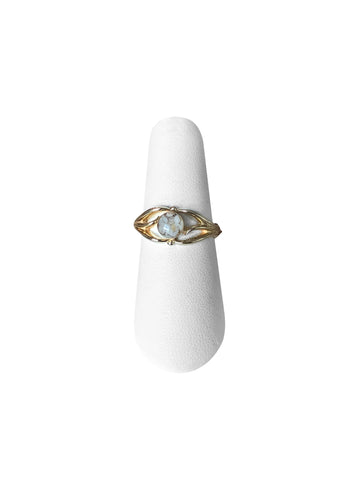 R021 14K Gold Filigree Cremation Ring