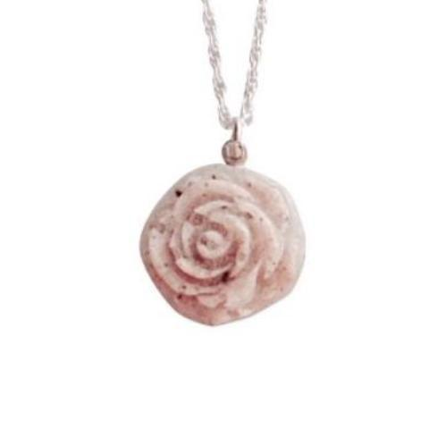 P007 Rose Molded Pendant