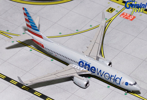 "1/400 GeminiJets American Airlines ""One World"" Boeing 737-800w Diecast Model - RW Hobbies"