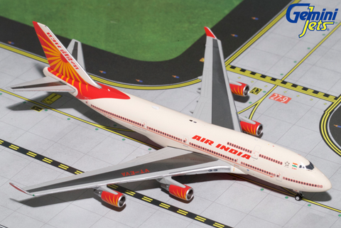 1/400 GeminiJets Air India Boeing 747-400 Diecast Model - RW Hobbies