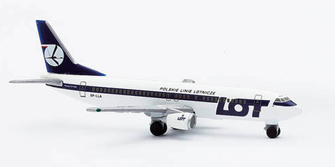 "1/500 Herpa Lot Polish Airlines ""70th Anniversary"" Boeing 737-400 Diecast Model"