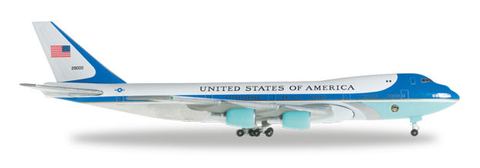 "1/500 Herpa United States ""Air Force One"" Boeing 747-200 Diecast Model - RW Hobbies"