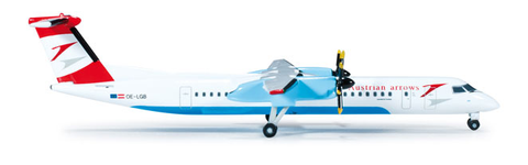 1/500 Herpa Austrian Arrows Bombardier Dash 8 Q-400 Diecast Model - RW Hobbies