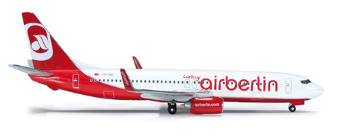 "1/500 Herpa Air Berlin ""Turkey"" Boeing 737-800w Diecast Model - RW Hobbies"