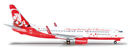 "1/500 Herpa Air Berlin ""Flying home for Christmas"" Boeing 737-800w Diecast Model - RW Hobbies"