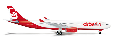 "1/500 Herpa Air Berlin Airbus A330-300 ""D-AERQ"" Diecast Model - RW Hobbies"