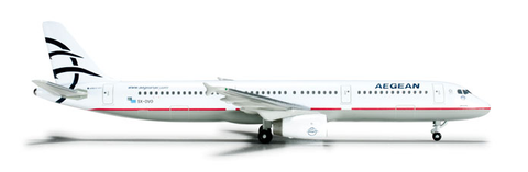 1/500 Herpa Aegean Airlines Airbus A321 Diecast Model - RW Hobbies
