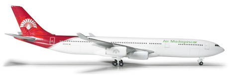 1/500 Herpa Air Madagascar Airbus A340-300 Diecast Model - RW Hobbies