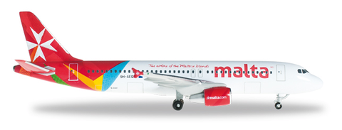 1/500 Herpa Air Malta Airbus A320-200 Diecast Model - RW Hobbies