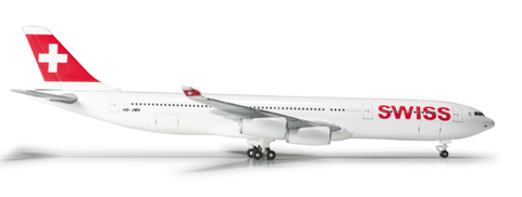 1/500 Herpa Swiss International A340-300 Diecast Model - RW Hobbies