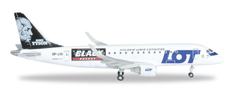 "1/500 Herpa Lot Polish Airlines ""Mike Tyson-Black Energy"" Embraer ERJ-175 Diecast Model - RW Hobbies"