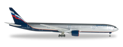 1/500 Herpa Aeroflot Airlines Boeing 777-300ER Diecast Model - RW Hobbies