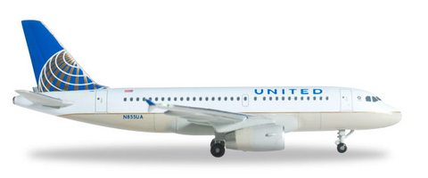 1/500 Herpa United Airlines Airbus A319 Diecast Model - RW Hobbies