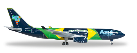 "1/500 Herpa Azul ""Brazilian Flag""  Airbus A330-200 Diecast Model - RW Hobbies"