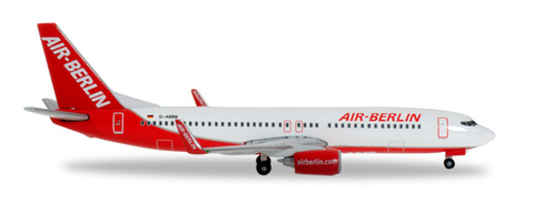 "1/500 Herpa Air Berlin ""Interim livery"" Boeing 737-800w Diecast Model - RW Hobbies"