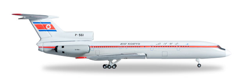 1/500 Herpa Air Koryo Tupolev TU-154B-2 Diecast Model - RW Hobbies