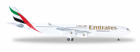 1/500 Herpa Emirates Airline Airbus A340-300 Diecast Model - RW Hobbies
