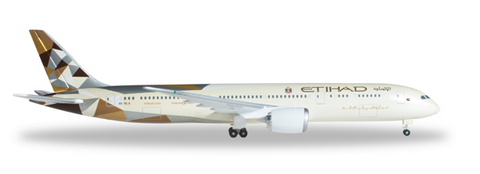 1/500 Herpa Etihad Airways Boeing 787-9 Dreamliner Diecast Model - RW Hobbies