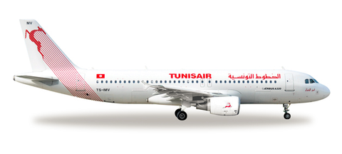 1/500 Herpa Tunisair Airbus A320-200 Diecast Model - RW Hobbies