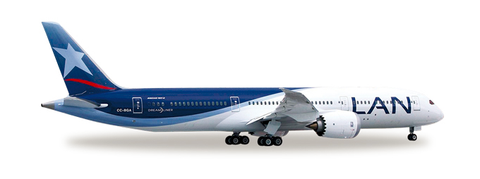 1/500 Herpa LAN Chile Boeing 787-9 Dreamliner Diecast Model - RW Hobbies