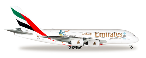 "1/500 Herpa Emirates Airline ""2015 Cricket World Cup"" Airbus A380-800 Diecast Model - RW Hobbies"