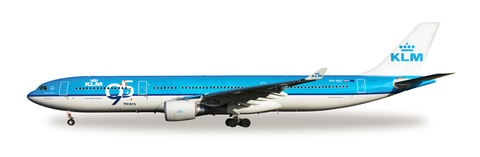 "1/500 Herpa KLM Royal Dutch Airlines ""95 Years"" Airbus A330-300 Diecast Model - RW Hobbies"