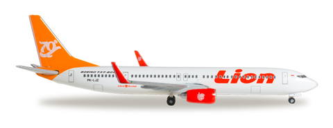 "1/500 Herpa Lionair ""70th Boeing Next Generation 737"" Boeing 737-900ER Diecast Model - RW Hobbies"