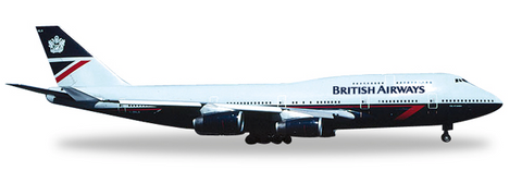 1/500 Herpa British Airways (Landor) Boeing 747-400 Diecast Model - RW Hobbies