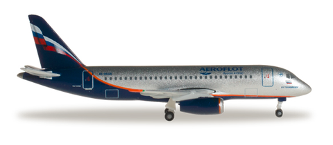 1/500 Herpa Aeroflot Sukhoi SuperJet 100-95 Diecast Model - RW Hobbies