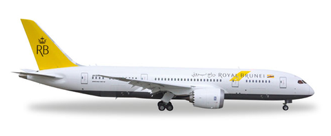 1/500 Herpa Royal Brunei Airlines Boeing 787-8 Dreamliner Diecast Model - RW Hobbies