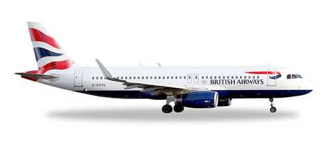 1/500 Herpa British Airways Airbus A320-200 Diecast Model - RW Hobbies