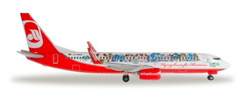 "1/500 Herpa Air Berlin ""Flying home for Christmas IV"" Boeing 737-800w Diecast Model - RW Hobbies"