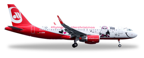 "1/500 Herpa Air Berlin ""Lindt Christmas"" Airbus A320-200 Diecast Model - RW Hobbies"