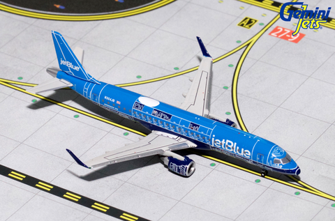 "1/400 GeminiJets jetBlue ""Blue Print"" Embraer ERJ-190 Diecast Model - RW Hobbies"