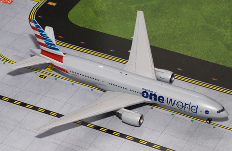 1/200 GeminiJets American Airlines Boeing 777-200ER One World Diecast Model RW Hobbies