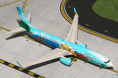 "1/200 GeminiJets Alaska Airlines ""Spirit of the Islands"" Boeing 737-800w Diecast Model RW Hobbies"