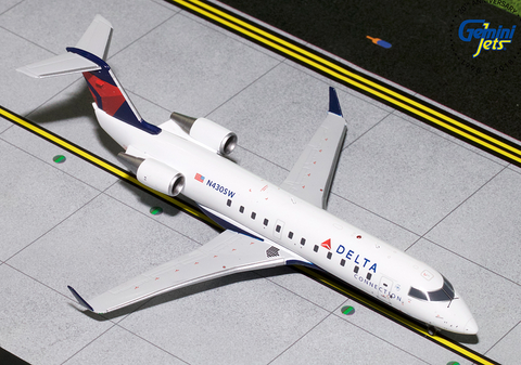 1/200 GeminiJets Delta Connection ExpressJet Airlines Bombardier CRJ-200 Diecast Model - RW Hobbies