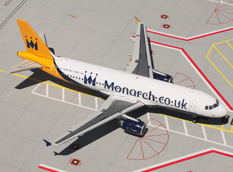 1/200 GeminiJets Monarch Airbus A320-200 Diecast Model - RW Hobbies
