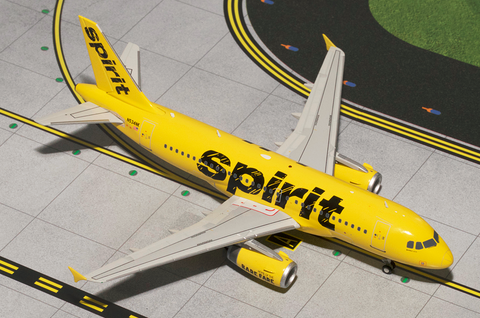 1/200 GeminiJets Spirit Airlines Airbus A319 Diecast Model - RW Hobbies