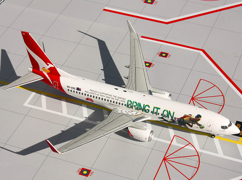 "1/200 GeminiJets Qantas Airways ""Bring it On Rugby"" Boeing 737-800 Diecast Model - RW Hobbies"